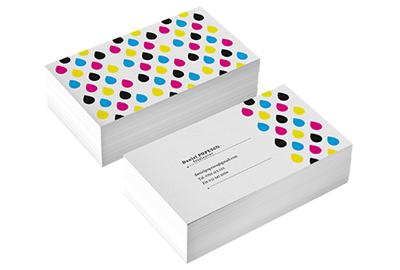 carti de vizita plastic alb