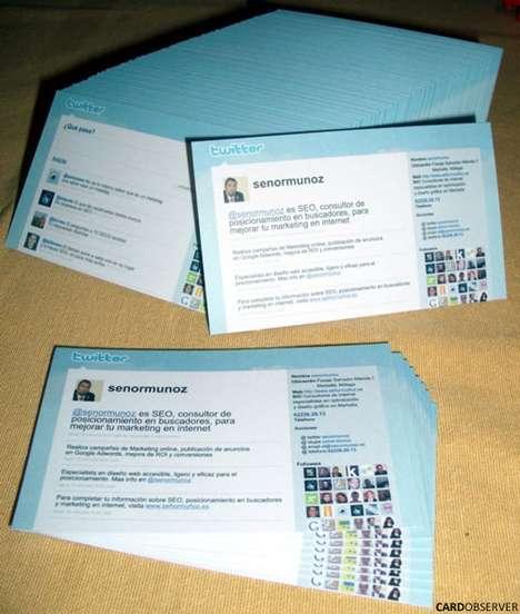 carti de vizita Tweet