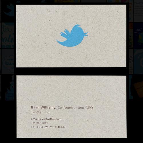 carti de vizita Twitter