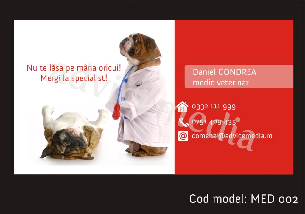 carti de vizita veterinar MED 002