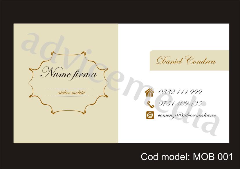 carti de vizita mobilier MOB 001 blog
