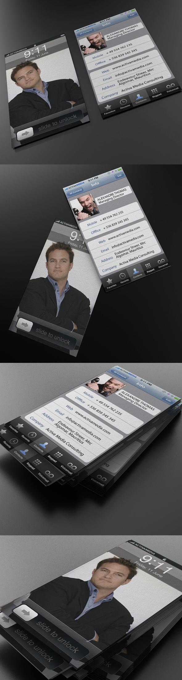 carti de vizita Iphone