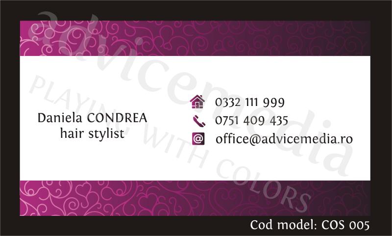 carti de vizita cosmetica COS 005