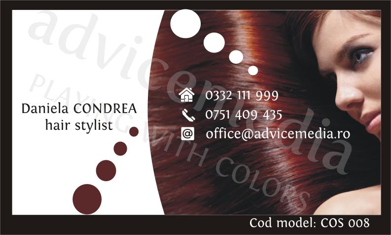 carti de vizita cosmetica COS 008