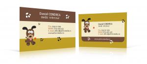 carti de vizita cabinet veterinar