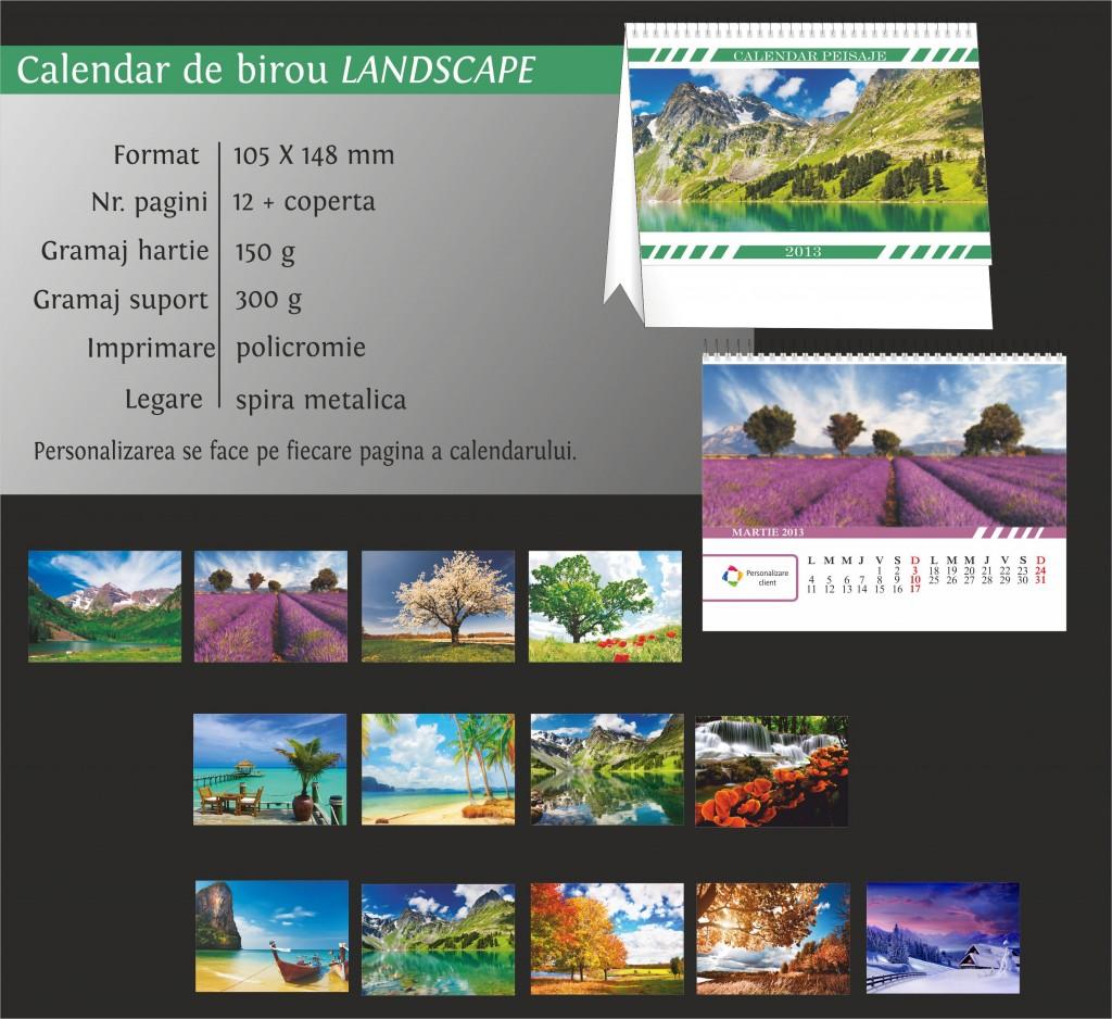 calendar de birou 2013 peisaje