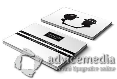 carti de vizita plastic alb mat